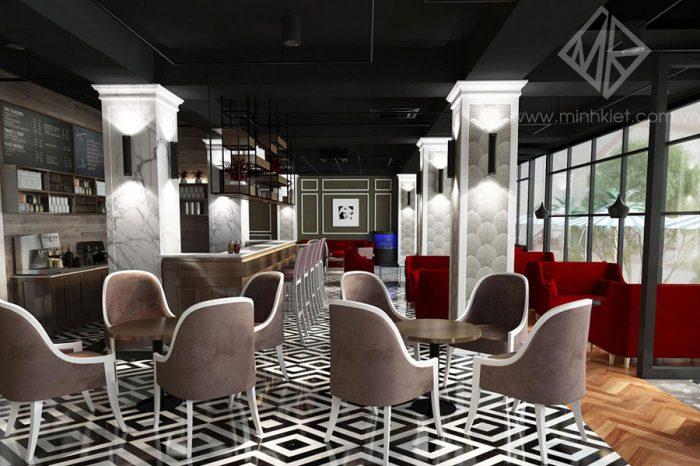 Thiết kế nội thất quán Cafe cao cấp Hot Rock - Thiết kế Minh Kiệt Cafe