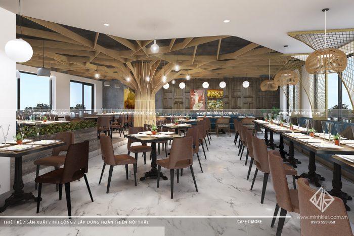 Thiết kế nhà hàng Buffet Minh Vân Sang Trọng - Thiết kế Minh Kiệt Cafe