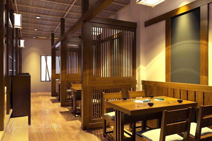 Thiết kế nhà hàng cao cấp Shushibar - Phong cách Nhật Bản - Thiết kế Minh Kiệt Cafe