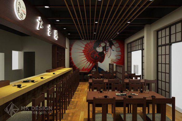 Thiết kế nhà hàng sang trọng Tamaya - Phong cách Nhật Bản - Thiết kế Minh Kiệt Cafe